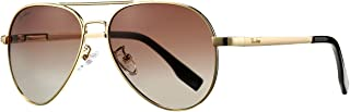 Small Polarized Aviator Sunglasses for Adult Small Face and Junior,52mm