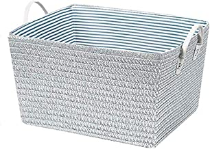 Laundry basket Laundry basket PlasticBasket Storage Box Handle Strap,Laundry Hamper Storage Basket Bin,Nursery Toy Organizer (Color : Silver, Size : 35 * 42 * 25)