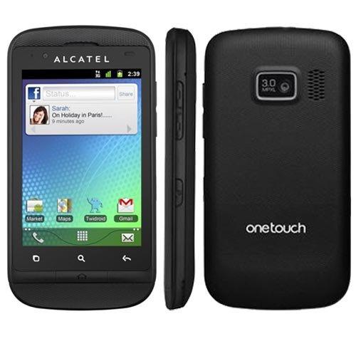 Alcatel One Touch 918D Smartphone (8,1 cm (3,2 Zoll) Touchscreen, 3,2 Megapixel Kamera, Dual-SIM, Android 2.3) schwarz