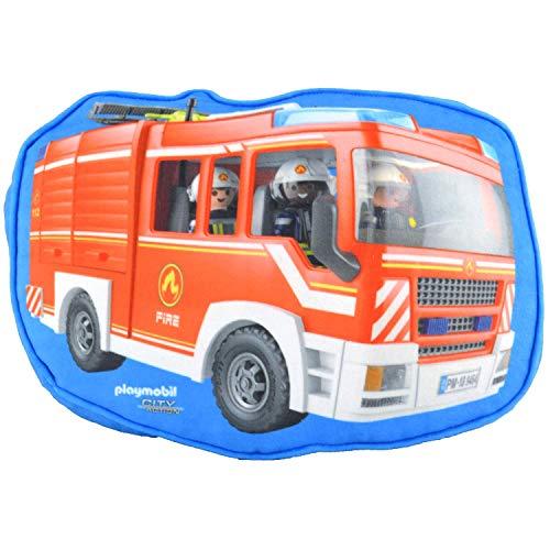 PLAYMOBIL United Labels City Action-Kinder Jungen Kissen Kinderzimmer Feuerwehr, ca. 26 x 33 x 5 cm, bunt,