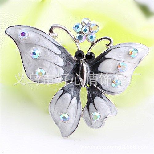 My Dream Day Elegante reichen Legierung glänzende Mode Mode schöne Brosche Pins Rücken Weiß Seidenschal binden.