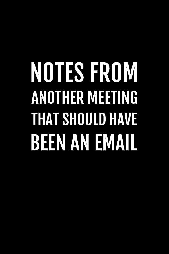 風景増幅スクリーチNotes From Another Meeting That Should Have Been An Email: Blank Lined Notebook Journal with Funny Saying On The Cover for Coworker, Employee, Boss for Journaling, Writing Lists and Note Taking