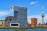 500 piezas-Holland Euromast Tower Rotterdam Rompecabezas para adultos Regalo de viaje de madera Recuerdo