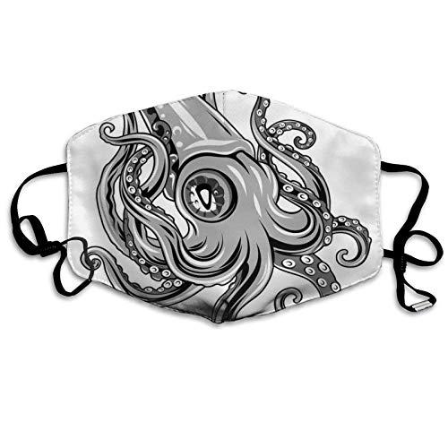 Calamar con aletas del mar antiguo, animales, calamar, subacuático, diseño Artisan, nuevo diseño a prueba de sol, bandana