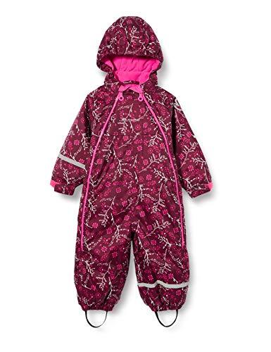 MINYMO Unisex-Child Oxford Snowsuit, Grape Wine, 86
