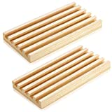 Wooden Domino Racks Domino Trays Holders Organizer Natural Wood Domino Trays with 5 Tilted Rows for Mexican Train Chickenfoot Mahjong and Other Domino Games