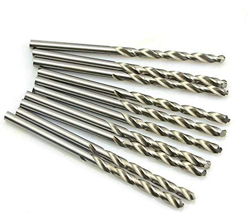 ZHFF Brocas, Juego De Brocas Helicoidales, Broca De Acero De Alta Velocidad Recubierta De Titanio, Broca Métrica De Vástago Recto De 0,3 Mm a 0,9 Mm para Herramienta De Perforación De Aluminio
