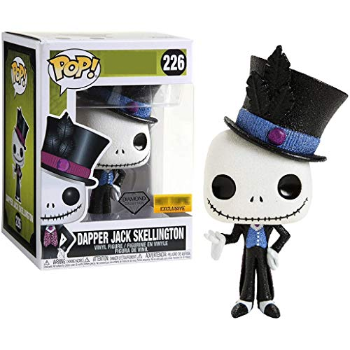Funko Pop Movies : The Nightmare Before Christmas : Dapper Jack Skellington (Diamond Collection Exclusive) 3.75inch Vinyl Gift for Anime Fans SuperCollection