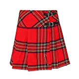 Tartanista - Kilt/Minifalda Escocesa con Correas - 41,9 (16,5') - Royal Stewart - Rojo - EU56 UK28