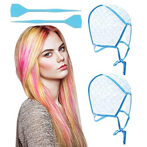 Disposable Tipping Cap, 2 Pieces Salon Hair Coloring Highlighting Cap Hair...