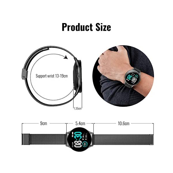 HopoFit Reloj Inteligente para Mujer y Hombre, Smartwatch de Android iOS Phone con monitoreo de frecuencia cardíaca… 7