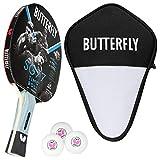 Butterfly Timo Boll SG77 - Juego de raquetas de ping pong y funda de celdas