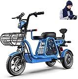 Bicicleta electrica Bicicleta eléctrica de 3 ruedas de bicicleta eléctrica 500W para adultos 48V 11AH 12 en scooter eléctrico con cerradura eléctrica Cargador de batería rápida con guante de bufanda d