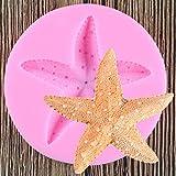 JLZK DIY Estrella De Mar Herramientas De Decoración De Pasteles Molde De Silicona Estrella De Mar Fondant Molde Chocolate Dulces Moldes Herramienta para Hornear