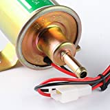 Krtopo 12v Autly Pompe Carburant Electrique Essence Diesel Pompe électrique Universel Heavy Duty Aluminium (d'or)