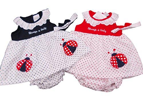 BNWT Robe d'été pour bébé fille Motif coccinelle 9-12 m 12-18 m 18-24 m (9-12 mois, bleu marine)