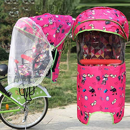 Kinderzitje Bike Glazen Achterruit Elektrische Auto Four Seasons Universal Verhoging Parasol, Gaas Windjekker Bescherming Tegen Straling Van De Baby Travel Hot Weer Shield