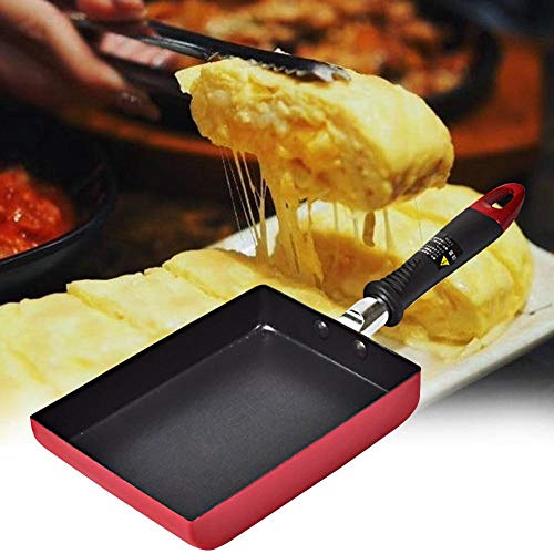 EDCV Koekenpan Home Aluminium Ontbijt Rechthoek Koken Keuken Multifunctioneel Pannenkoek Restaurant Non Stick Camping Koekenpan