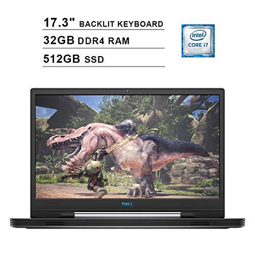 2019 Dell G7 17 7790 17.3 Inch FHD Gaming Laptop (9th Gen Intel 6-Core i7-9750H up to 4.50 GHz, 32GB DDR4 RAM, 512GB SSD, NVIDIA GeForce RTX 2060, RGB Backlit Keyboard, Windows 10) (Abyss Gray)
