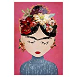 artboxONE Poster 30x20 cm Menschen Frida (pink Version)