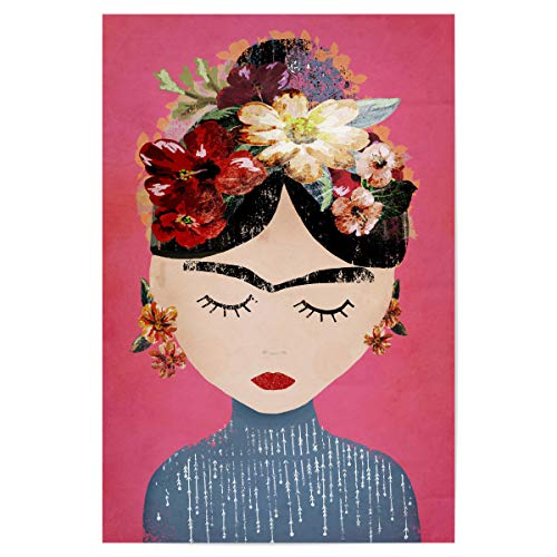 artboxONE Poster 30x20 cm Menschen Frida (pink Version) hochwertiger Design Kunstdruck - Bild Frida Kahlo Mensch