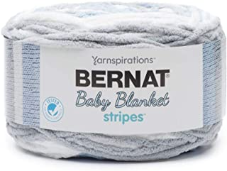 Bernat Baby Blanket Stripes Fabric, Above the Clouds
