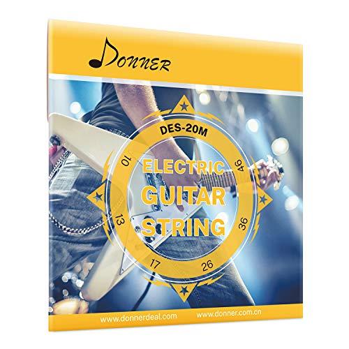 Donner E-Gitarrensaiten Regular Slinky Nickel Wunde Egitarre DES-20M, 10-46(6 Saiten, 1 Stück)