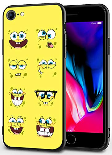 iPhone 7/8/SE 2020 Case - Cute Anime Design Ultra-Thin Cover Cases for iPhone 7/8/SE2020 4.7' (Spongebob-Emoticon)