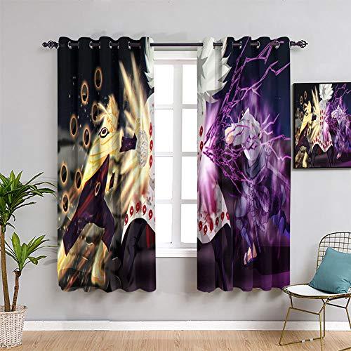 Elliot Dorothy Thermal Insulated Curtains Naruto Uzumaki and Uchiha Sasuke Customized Chid Curtains Window Curtain Fabric W55 x L45