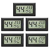 EEEKit 5-Pack LCD digitale temperatura umidità misuratore termometro, mini termometro digitale...