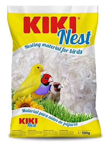 Kiki-pro - Kiki Nest, Pelo de Cabra Blanco para nidos de pájaros, 500 gr