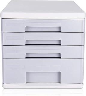 KANJJ-YU Classeur tiroirs de bureau Classeur 4 Couche de bureau Bureau Armoire de rangement (Couleur: Gris, Taille: 26.5x3...