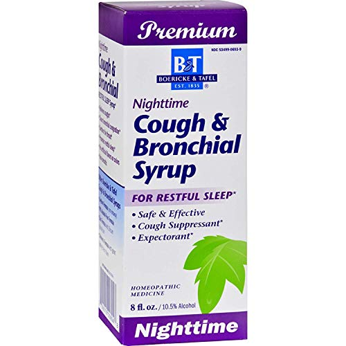 Boericke and Tafel Night Time Cough and Bronchial Syrup, 8 Ounce - 3 per case.