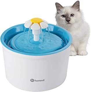 Hommii Pet Drinking Water Fountain for Cats and Dogs Pets, Cat Dog Water Dispenser, Automatic Electric 1.6L Super Silent