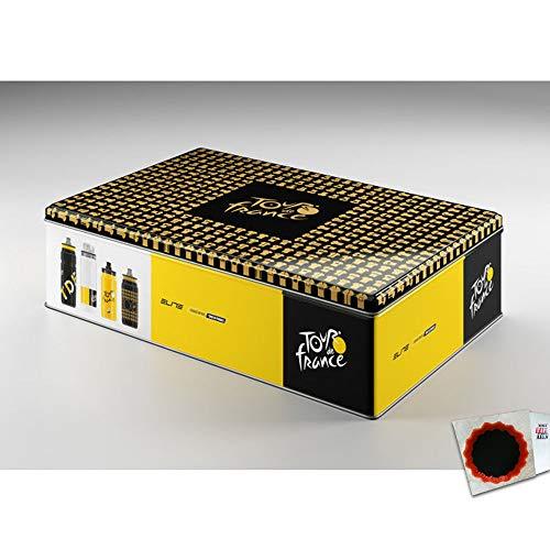 Elite Flaschenbox Tour de France 2019 Kunststoff Alu gelb schwarz Weiss Fahrrad