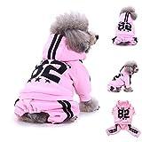 YCGG Hunde Sweatshirt Pullover Mode Hunde Kleidung FüR Kleine Mode Hund Sweatshirts Warme Kleidung Welpen Doggy Bekleidung Kleidung(S,Rosa)