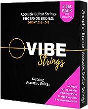 Cuerdas para guitarra acústica de bronce fosforado Silenciosamente equilibrado y consistente tono de larga duración con un extremo más brillante; tocado por guitarristas intermedios a avanzados, adecuado para estilos de tocar y guitarras de cuerpo má...