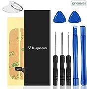 Mbuynow Batería del iPhone 6S, Kit de Reparación Completo con Herramientas e Instrucciones de Alta apacidad (1715mAh) Nuevo 0 Ciclo (iPhone 6S)