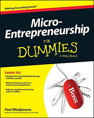 Micro-Entrepreneurship For Dummies (English Edition)