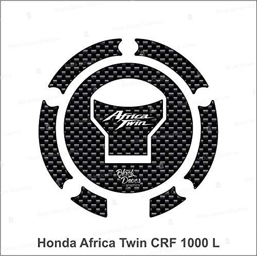 Protector adhesivo resinado compatible para Honda Africa Twin CRF 1000 L tapón depósito 5 pernos moto