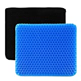 Gel Seat Cushion Ventilation Breathable Gel Seat Cushion Body Pressure Dispersion Butt Pain Relief Healthy Seat Cushions for Office Chairs Wheelchair Truckers