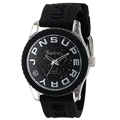 Superdry Reloj Analógico para Mujer de Cuarzo con Correa en Silicona SYL174B