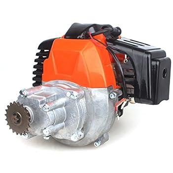 WEIYINGSI 49cc Electric Start Engine w/Gear Box for Pocket Bike Gas Scooter Mini ATV