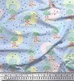 Soimoi Blau Baumwolle Ente Stoff Gesichtsmaske & Nagellack Frau Drucken Nahen Stoff 1 Meter 56 Zoll breit