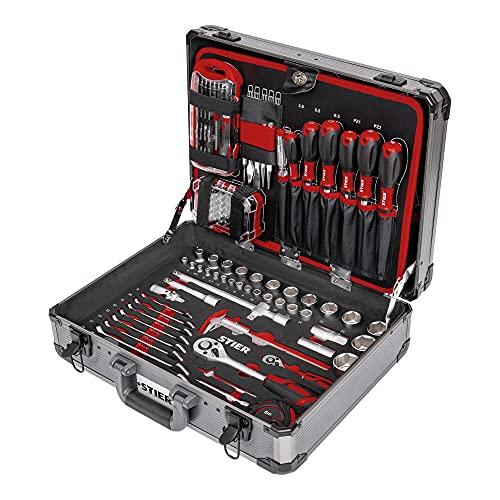 STIER STIER Universal-Werkzeugsortiment im Aluminiumkoffer 144-teilig Bild