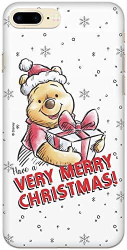 Carcasa Original de Disney Winnie The Pooh TPU para iPhone 7 Plus, iPhone 8 Plus, Funda de Silicona líquida, Flexible y Delgada, Protectora para Pantalla, a Prueba de Golpes y antiarañazos