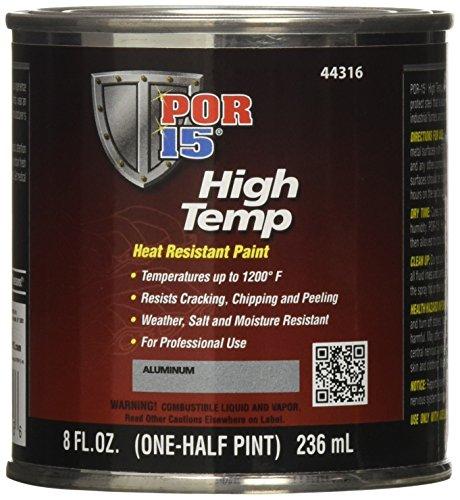 POR-15 44316 Aluminum High Temperature Paint - 8 fl. oz.