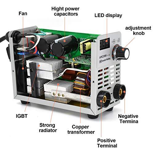 HITBOXスティック溶接機110/220VデュアルボルトARC200AmpDCインバーター溶接機60137018電極棒用