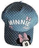 Minnie Mouse gorra de verano para niña, gorra de playa, talla 54 y 52, color azul vaquero azul 54 cm