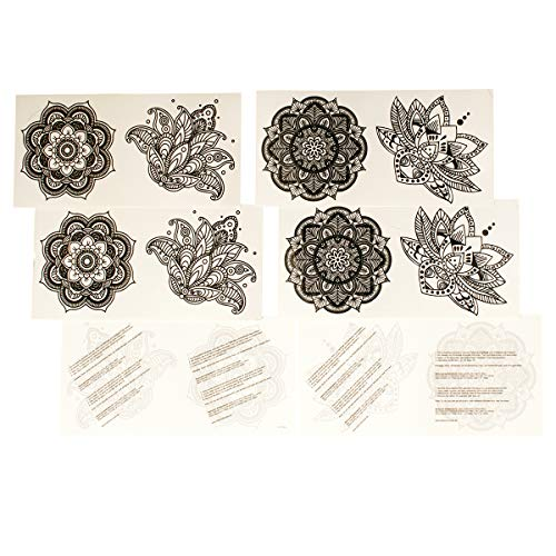 1 x 4teiliges Mandala Tattoo Set - 4 verschiedene Mandala Tattoos (1)